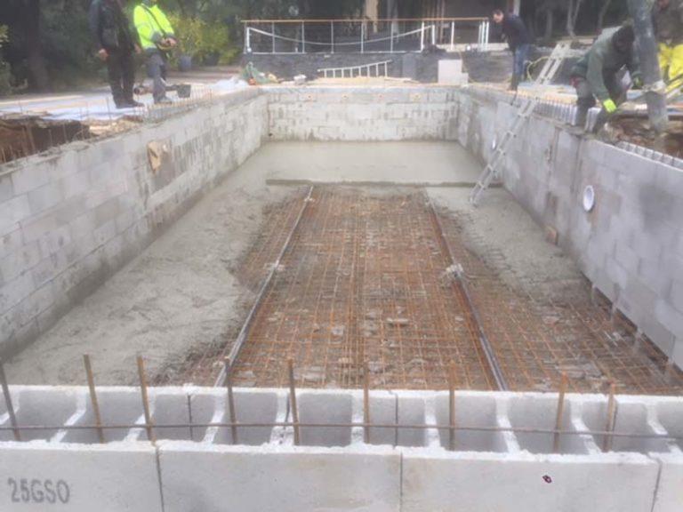 Photographie d'un armature de piscine pour la rénovation d'une piscine. Planète Eau Piscines, Construction, Rénovation, Entretien. Artisan pisciniste sur Aix en Provence et ses alentours.